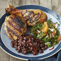 ... grilled chicken featuring BUSH'S® Sweet Mesquite Grillin' Beans